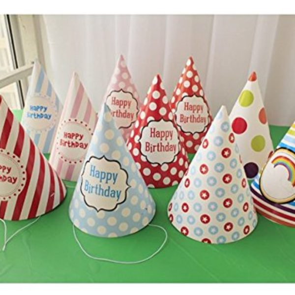 Lovely Paper Cone Birthday Party Hats For Children And Adults