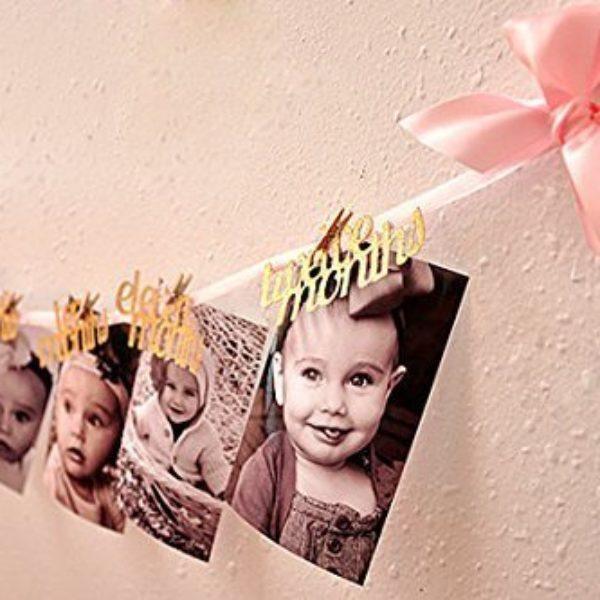 Гирлянда с днем рождения с фотографиями своими руками 391
